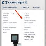 Concept2 menu bar
