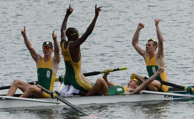 Winning the Olympics rowing event