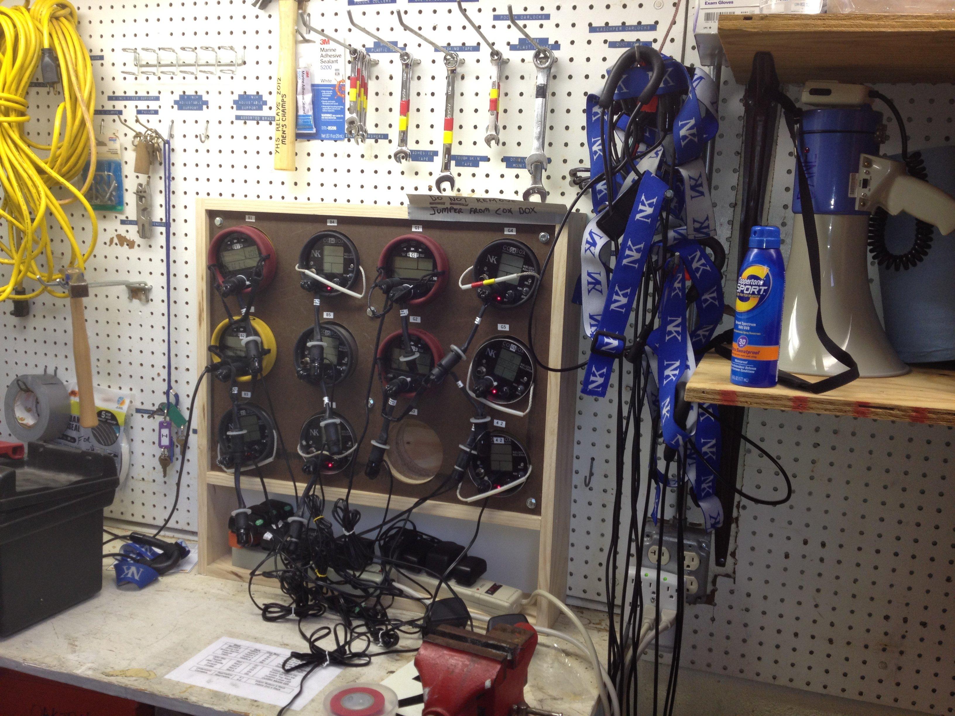 rowing equipment storage