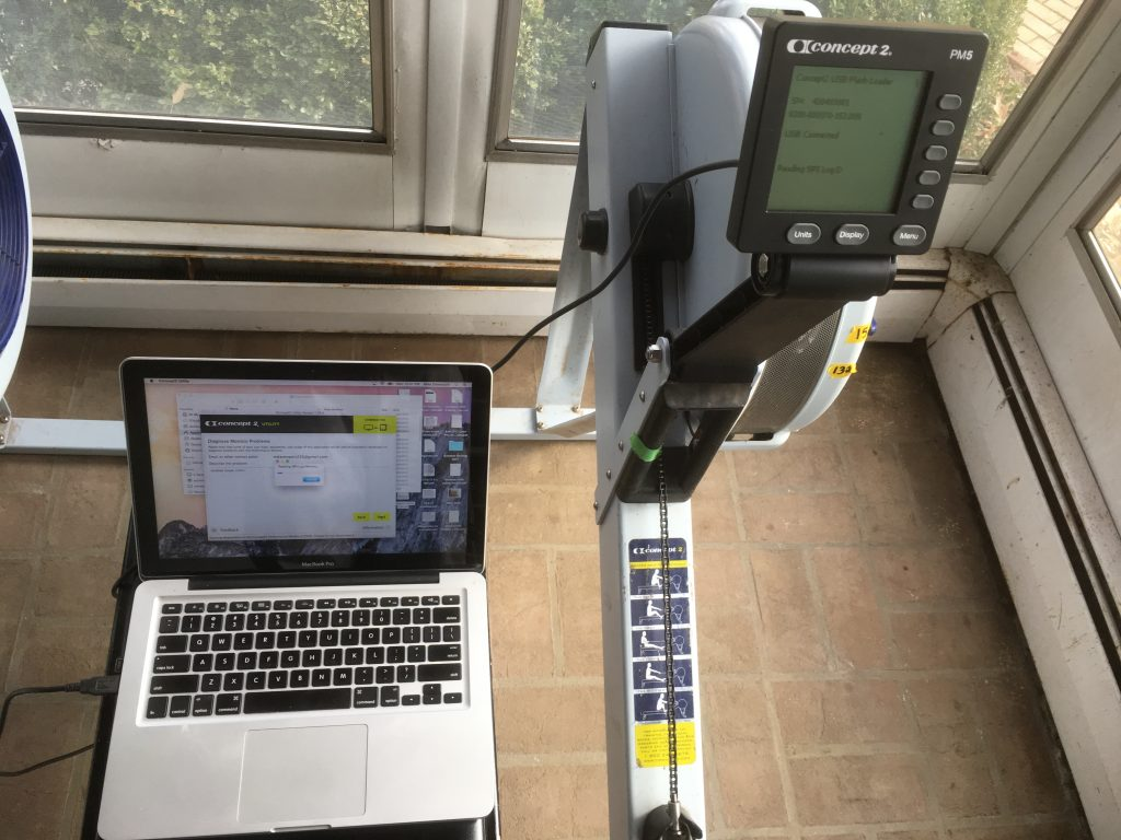 Concept2 monitor diagnostic test for ergometer trouble