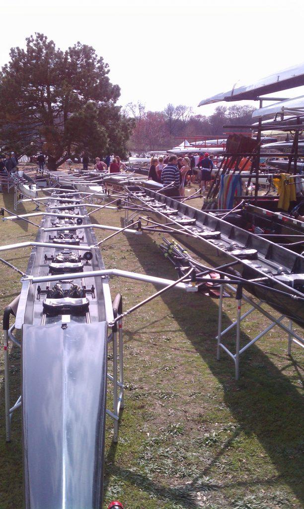 rowing boat slings at regatta