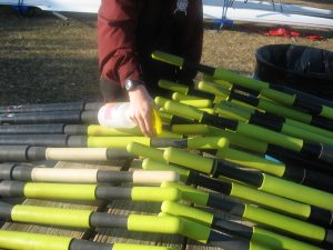 cleaning rowing oar handles