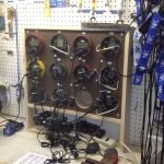 This is a picture of cox boxes organized on a workbench